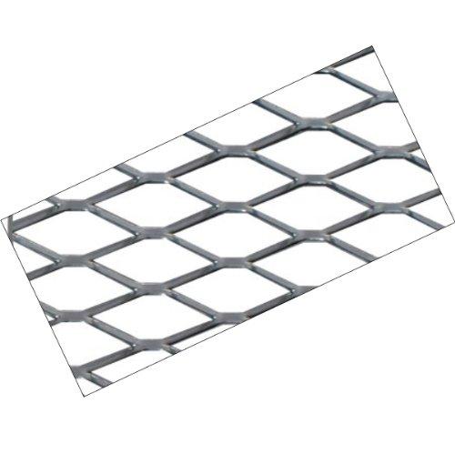 UNG90 - Alu Racegitter Grobmaschig Ausführung: Alu Silber, Größe ca. 120 x 20cm, Maschenweite: 6x12mm,