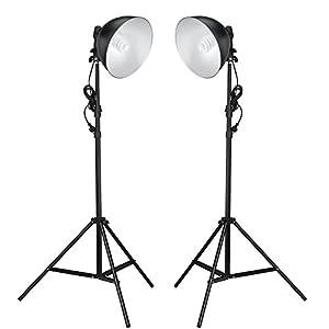Fotostudio Studioleuchten 2 Leuchten Tageslichtlampe Studiolampe Stativ NEU