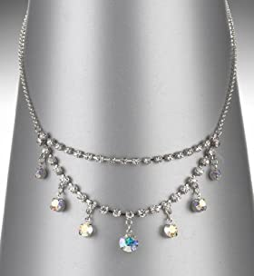 Double Strand Diamanté Necklace
