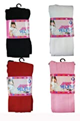 Girls Tights - Girls Fashion Hosiery Assorted Colored Tights (4 Pairs) Size Small (1-3y)