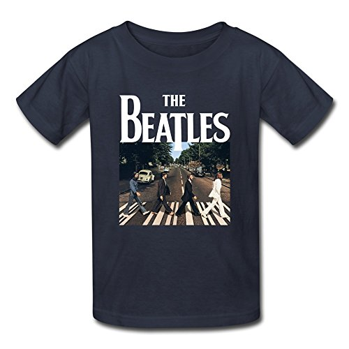 AOPO The Beatles Band Tees For Kids Unisex Medium Navy