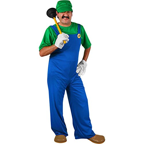 Adult Mario Brothers Luigi Costume (Size:X-Large)