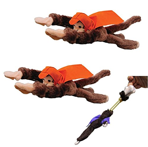 2-Flying-Screaming-Monkeys-Superfly-Slingshot-Kids-Toy-Animal-Launches-50-Ft