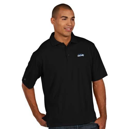 NFL-Mens-Seattle-Seahawks-Pique-Xtra-Lite-Desert-Dry-Polo-Shirt-Black