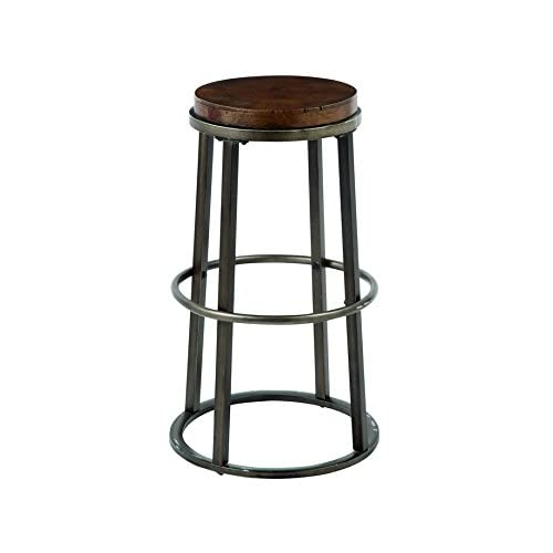 Signature Design by Ashley D548-330 Vintage Casual Pub Height Barstool, Medium Brown, Pub Height (Set of 2)