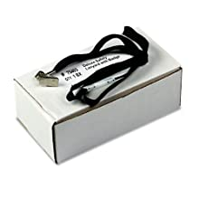Advantus 36-Inch Safety Lanyard for ID Cards/Badges, Clip Style, Black, Box of 24 (75403)