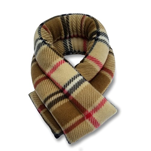 Sunny Bay Extra Long Heated Neck Wrap, Rice Filled (london plaid camel) (Heated Neck Pillow Microwave compare prices)