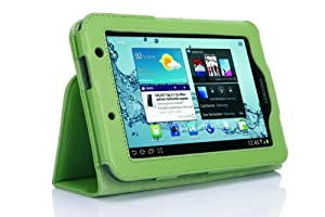 SupCase Slim Fit Folio Leather Tablet Case Cover for 7-Inch Samsung Galaxy Tab 2, Green (S3113-62A-GN)