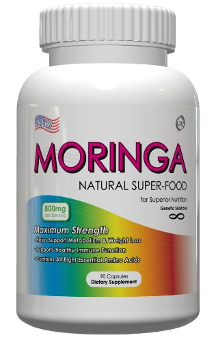 Moringa-Natual SuperFood Moringa Oleifera, 90 Capsules, 800mg Per Serving, Great Source Of Amino Acids