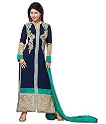 Aarsh Apparel Blue Georgette Salwar suit