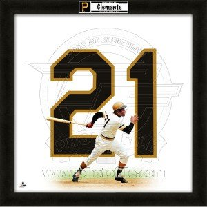 Roberto Clemente Pittsburgh Pirates 20x20 Framed Uniframe Jersey Photo by Biggsports