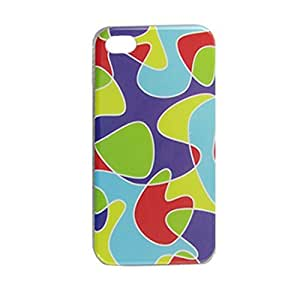 Novelty Print IMD Multicolor Back Cover Case for iPhone 4 4G 4S