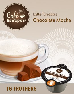 Café Escapes Chocolate Mocha Dairy Frother Keurig Vue Portion Pack Latte Creator, 16 Count front-555454