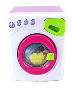 happy little masters pretend play battery operated toy washing machine play set w. Black Bedroom Furniture Sets. Home Design Ideas