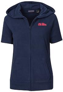 NCAA Mississippi State Bulldogs Ladies Short Sleeve Full Zip Polar Fleece Jacket,... by Oxford