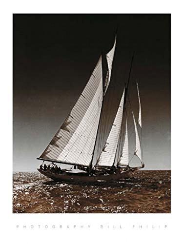 Bill Philip - Segeln in Cowes I Kunstdruck (25,40 x 30,48 cm)