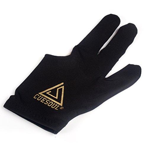 Cuesoul 10pcs/set 3 Finger Billiards Gloves Pool Cue