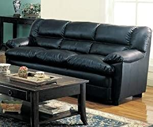 Harper Sofa in Black Leather by Coaster Furniture