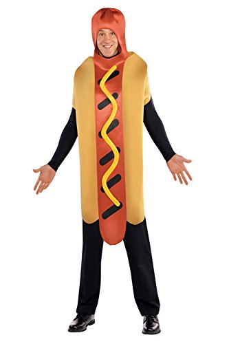 Hot Diggety Dog Adults Costume Unisex Sausage Food Novelty Fancy Dress