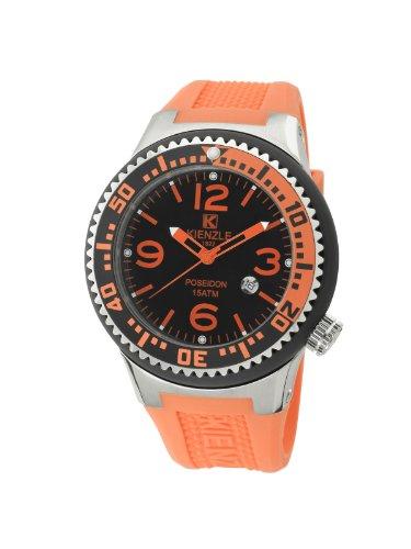 Kienzle POSEIDON K2043153253-00272 - Reloj unisex, correa de silicona color naranja