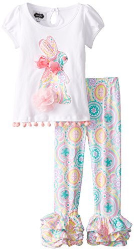 Bunny Tunic & Legging Set (Mud Pie Easter 3t compare prices)