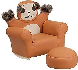 Flash Furniture HR-30-GG Kids Monkey Rocker Chair and Footrest