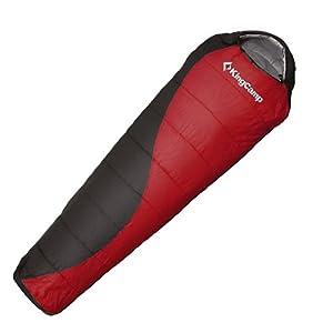 KingCamp Outdoorschlafsack atmungsaktiver Schlafsack Desert 300 lava/schwarz