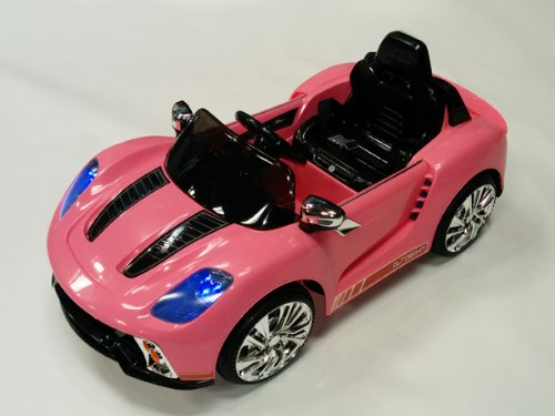Porsche Style Kids 12V Battery 2 Motors Powered Wheels Ride On Car Rc Remote Pink For Girls