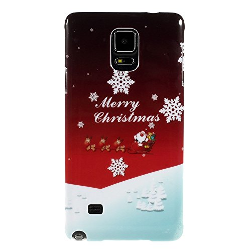 JUJEO Santa Claus in Sled Christmas Style Pattern Glossy ...