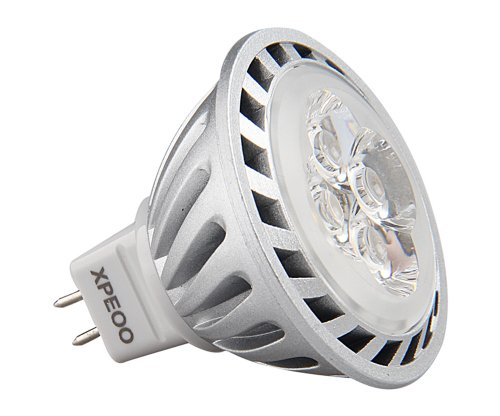 Xpeoo® Mr16 Led Light Lamp Bulb Gu5.3 6W 12V Halogen Spotlight 520Lm 40 Degrees 50W Replacement Natural Daylight Warm White Non-Dimmable Smd (Non-Dimmable Warm White)