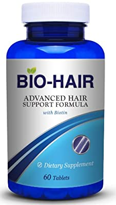 Bio Hair Vitamins for Faster Hair Growth and Hair Health. Extra Strength formula with Biotin, MSM, and Bamboo (silica) provides essential nutrition, and DHT Blockers help with Thinning Hair and Hair Loss. Can combine with Biotin Shampoo or Hair Oil