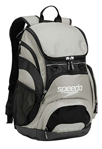 Speedo Teamster Backpack, Frost Gray/Black, 35-Liter