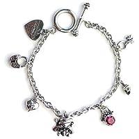 【ブレスレット 7種マルチチャーム】 EDHARDY エドハーディー 9266 アクセサリー Ed Hardy multi charm bracelet EHB05SRSS