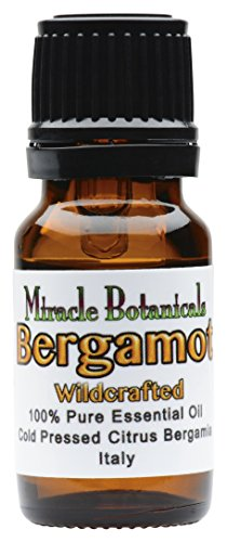 Miracle Botanicals Wildcrafted Bergamot Essential Oil - 100% Pure Citrus Bergamia - 10ml and 30ml Sizes - Therapeutic Grade - Italy 10ml