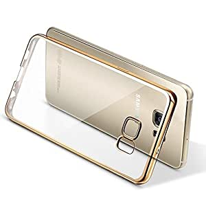 For Samsung Galaxy S7 Gold Chrome Lustre TPU Slim Case Thin Case Clear Cover