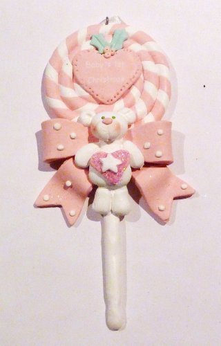 Christmas Ornament, Baby, Girl, Lollipop, Personalizable front-1032563