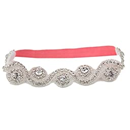 Xmas Gift to Kid Girl Luxury Beaded Drill Hair Band Wensltd Hair Accessories (Watermelon Red)