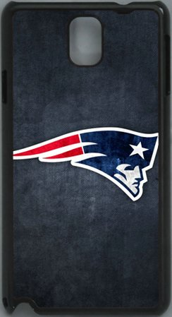 Best  NFL New England Patriots Logo PC Hard Shell Black Skin Cover Case for Samsung Galaxy Note 3 N9000 by Qinchao Sports #22