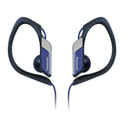 Panasonic RP-HS34 Blue Sweat Resistant Sports Earphones with adjustable Earclip
