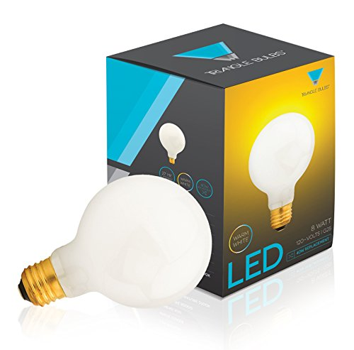 G25 Led Bulb 8W, Warm White, 2700K, 40W Globe Bulb Incandescent Replacement, White Cover,
