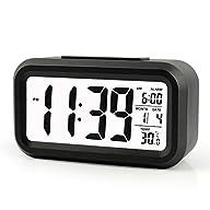 ZHPUAT 5.3″ Digital Alarm Clock, Larg…