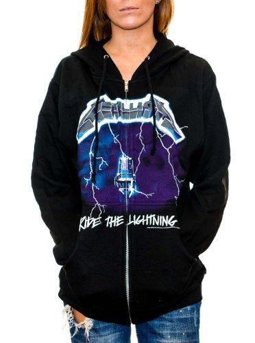 Metallica - Mens Ride The Lightning Zip Hoodie X-Large Black