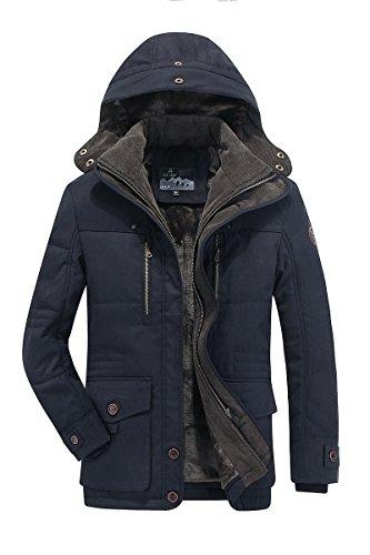 Giacca Uomo Cappotto Abbigliamento Giubbotto Giacche Invernali Vestiti Eleganti a Imbottita13029 (M, Blu Marino)