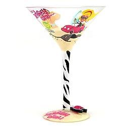 Top Shelf Jersey Girl Once a Jersey Girl Always a Jersey Girl Martini Glass