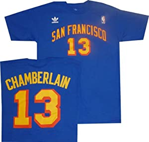 Wilt Chamberlain San Francisco Warriors Jersey Name and Number T-Shirt by adidas