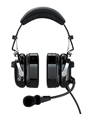 FARO G2-PNR Premium Pilot Aviation Headset with Mp3 Input, Black by FARO