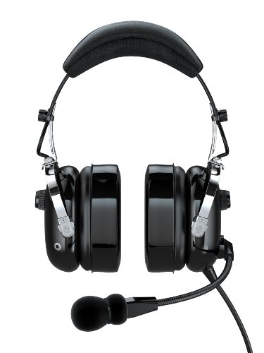 Faro G2-Pnr Premium Pilot Aviation Headset With Mp3 Input, Black