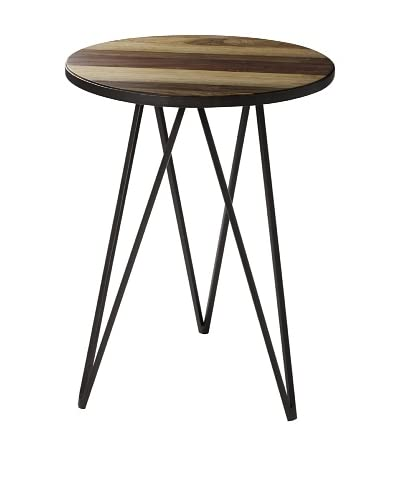 Cooper Classics Russell Chairside Table, Brown