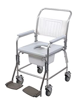 Shower Commode Chair Aluminium by Patterson Medical