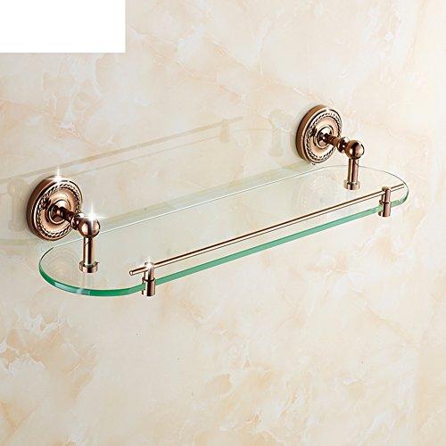 Rosa oro bagno rack/specchiera in vetro/portasciugamano